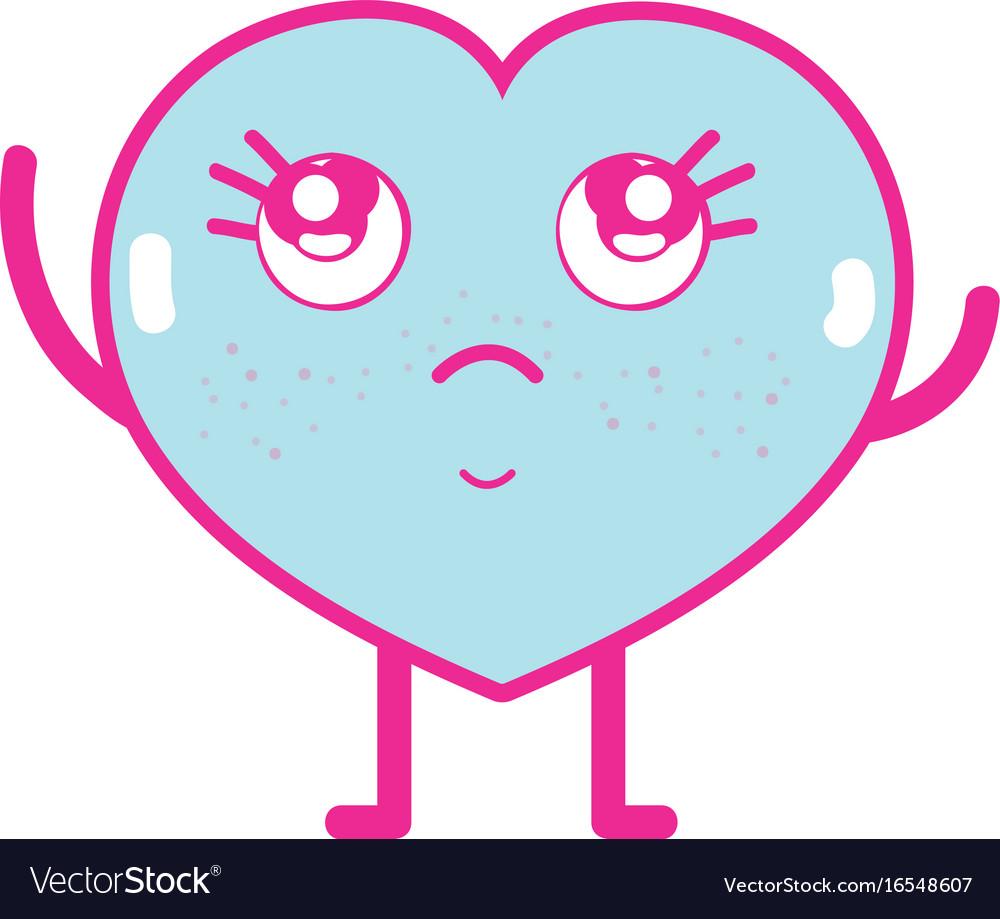 Kawaii cute thinking heart love