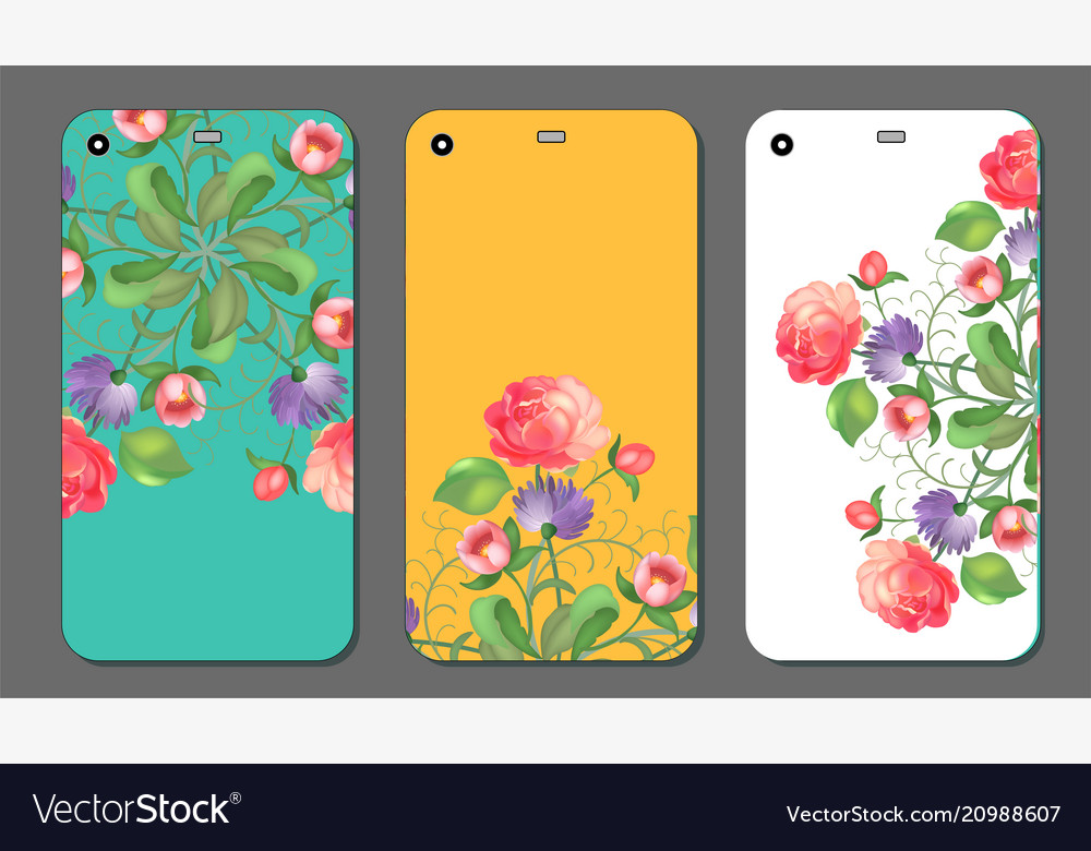 Phone cover collection with floral elements