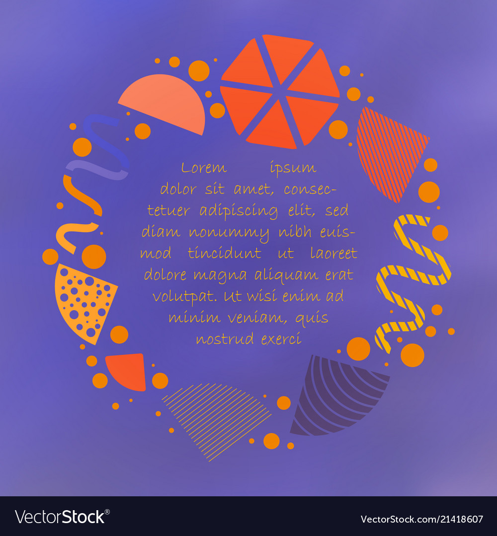 Vibrant poster with circular abstract shapes