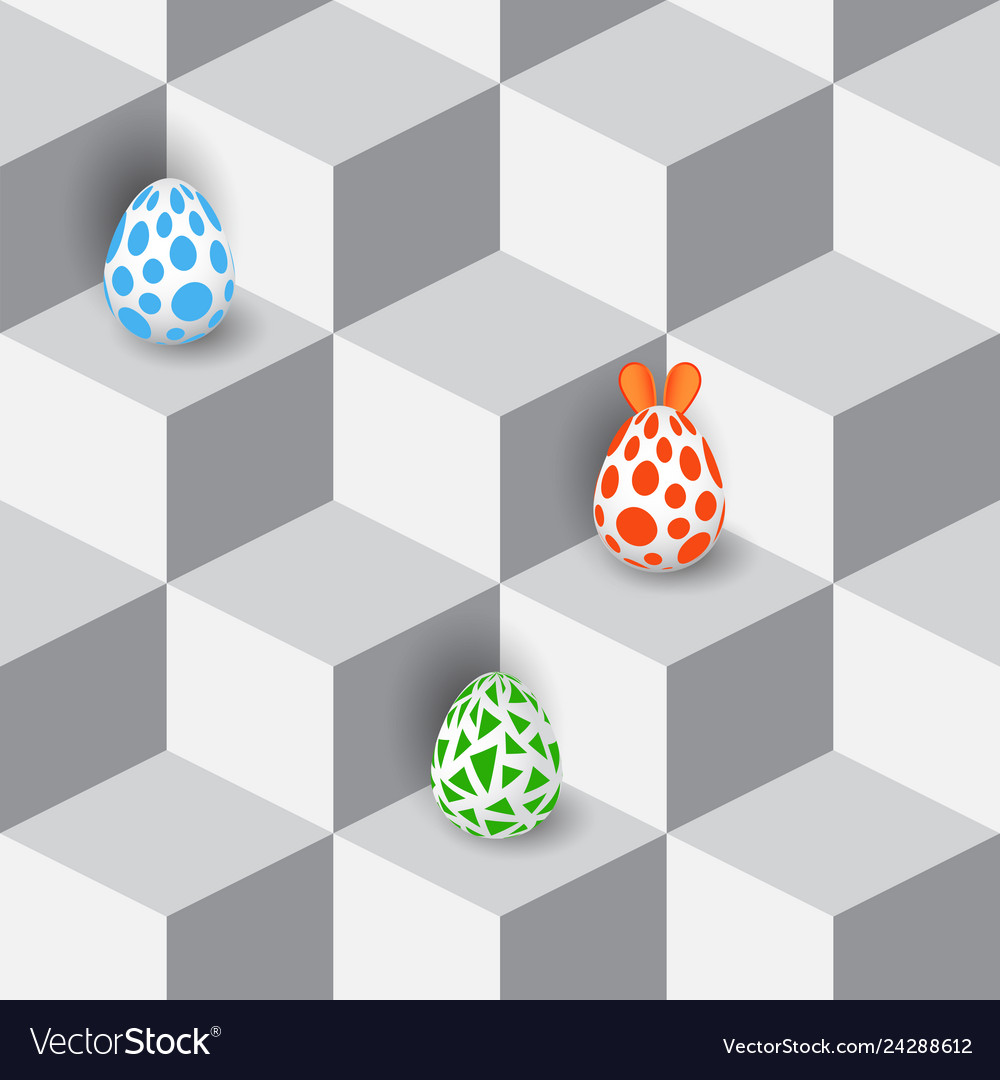 Happy easter 3d realistic design with egg and