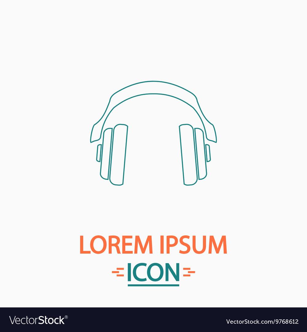 Headphones computer symbol