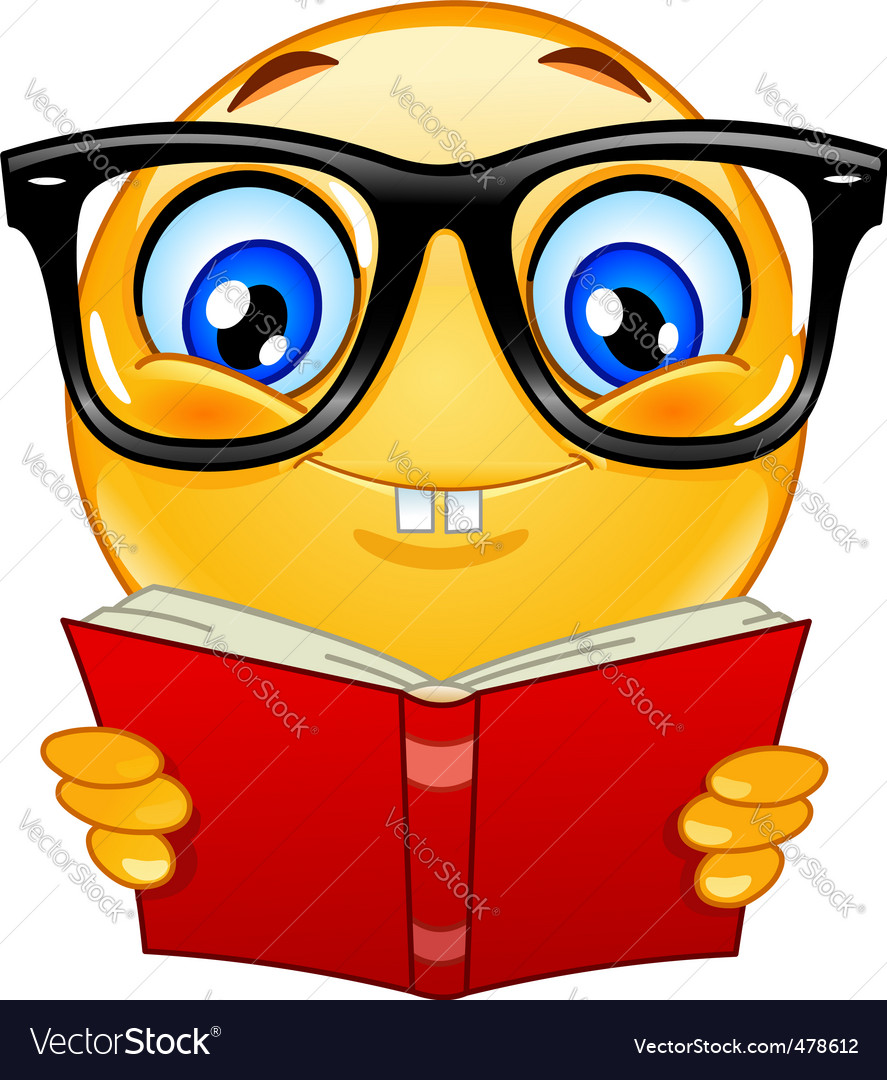 nerd emoticon royalty free vector image vectorstock