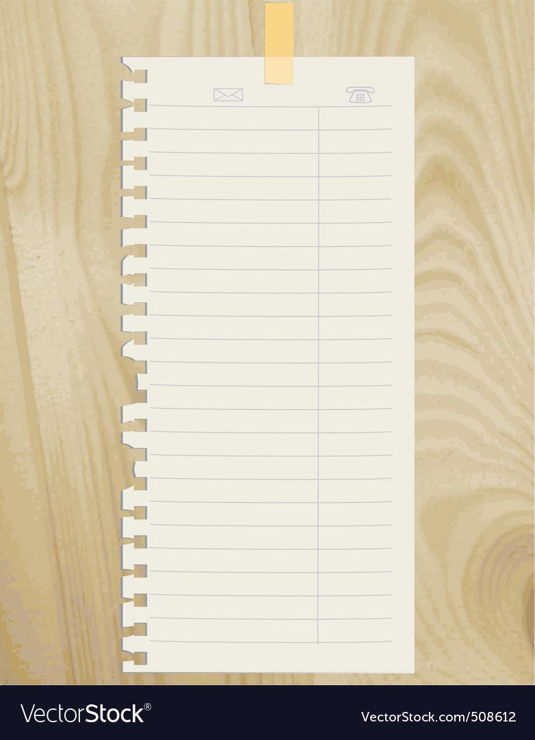 Note sheet