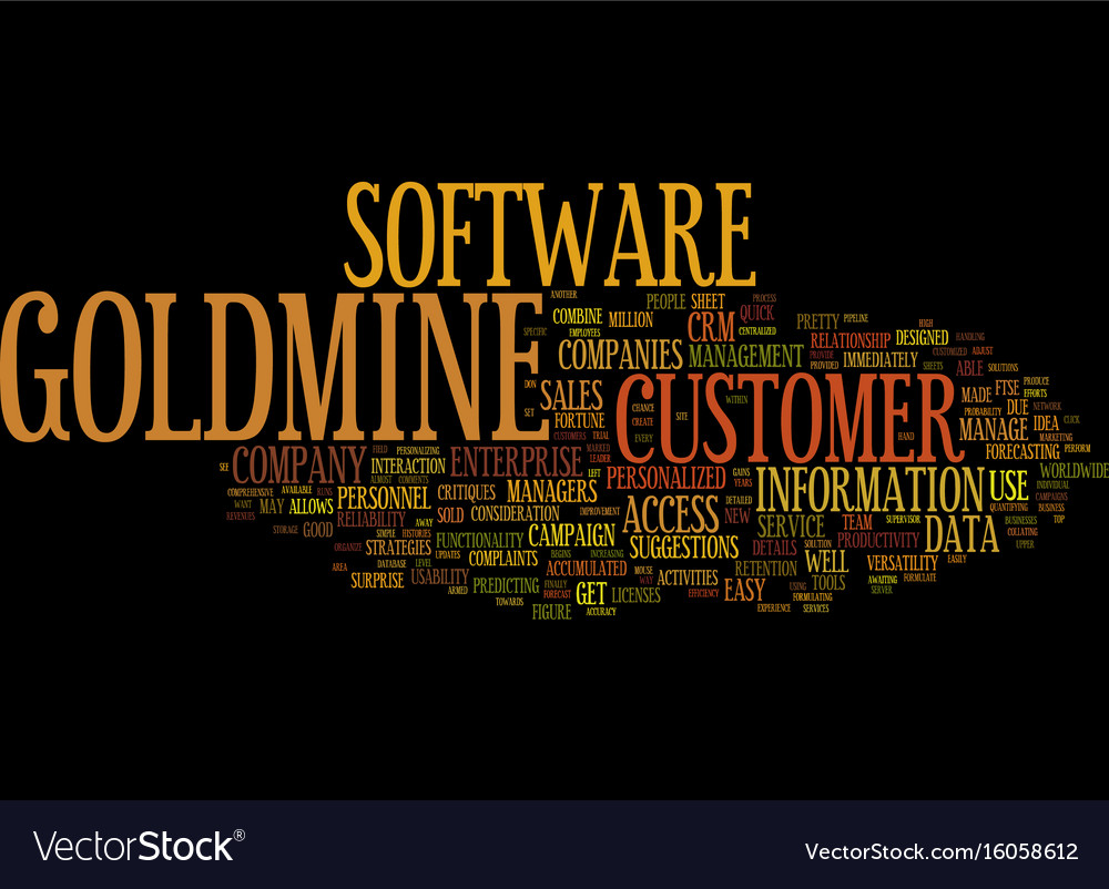 The new goldmine enterprise text background word vector image