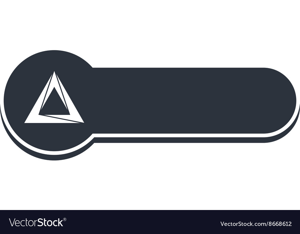 triangle shape banner template royalty free vector image