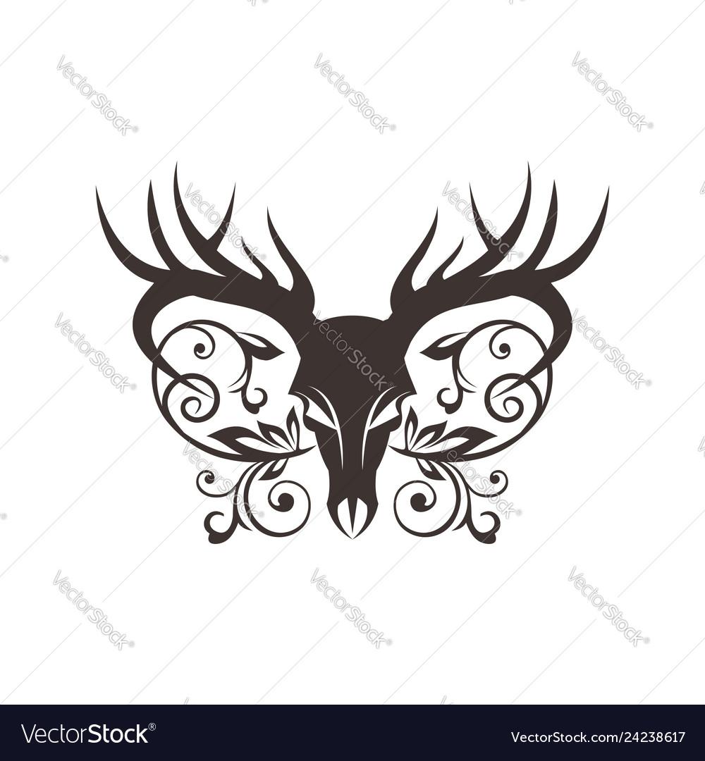Bone deer decoration