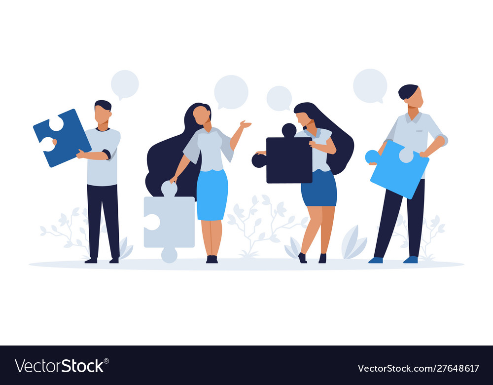 Business teamwork concept cartoon people with