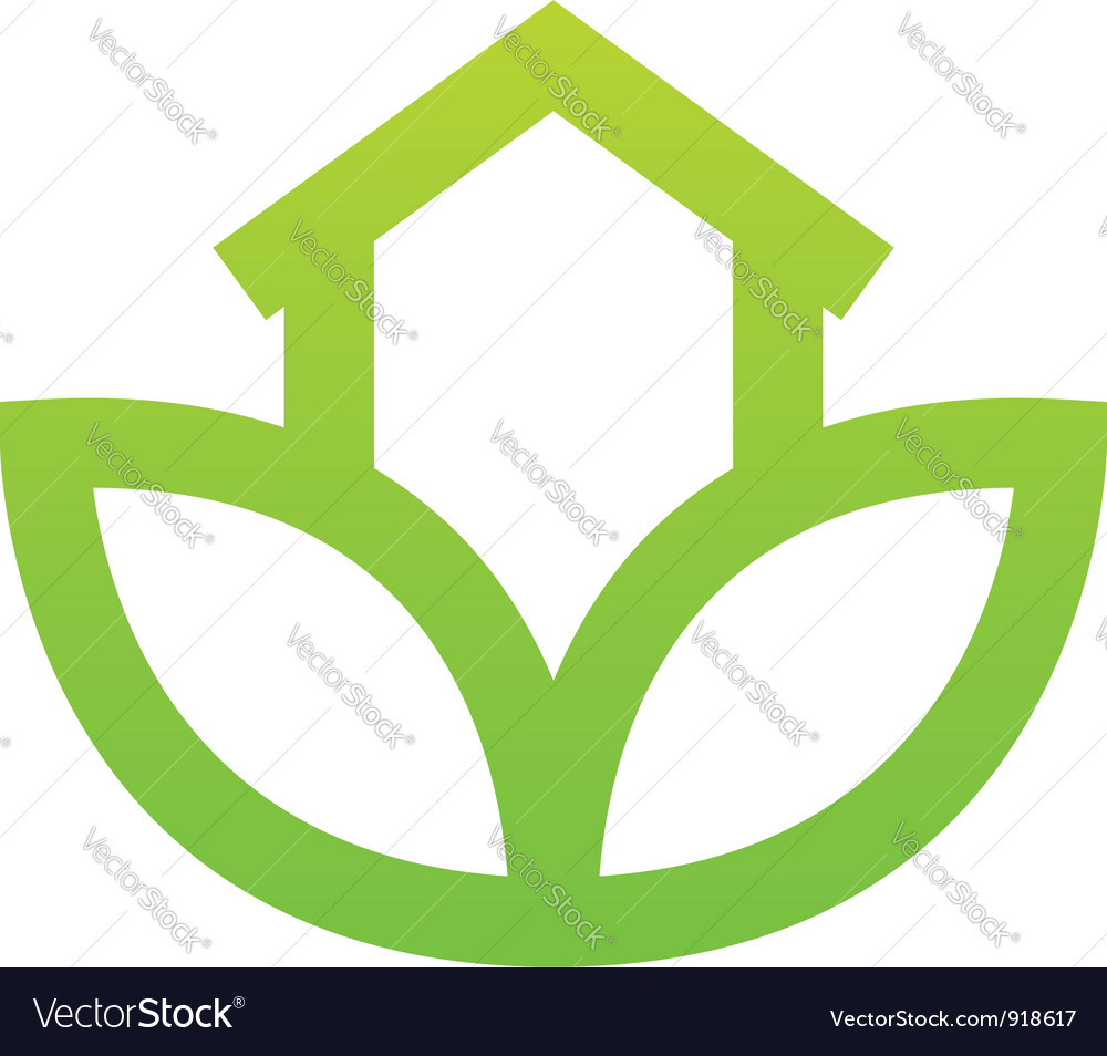 Green house sign vector image