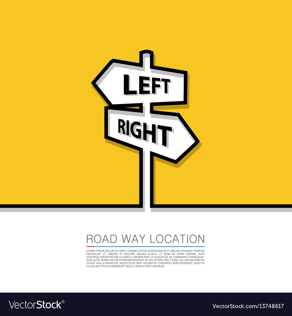 Left and right arrow sign