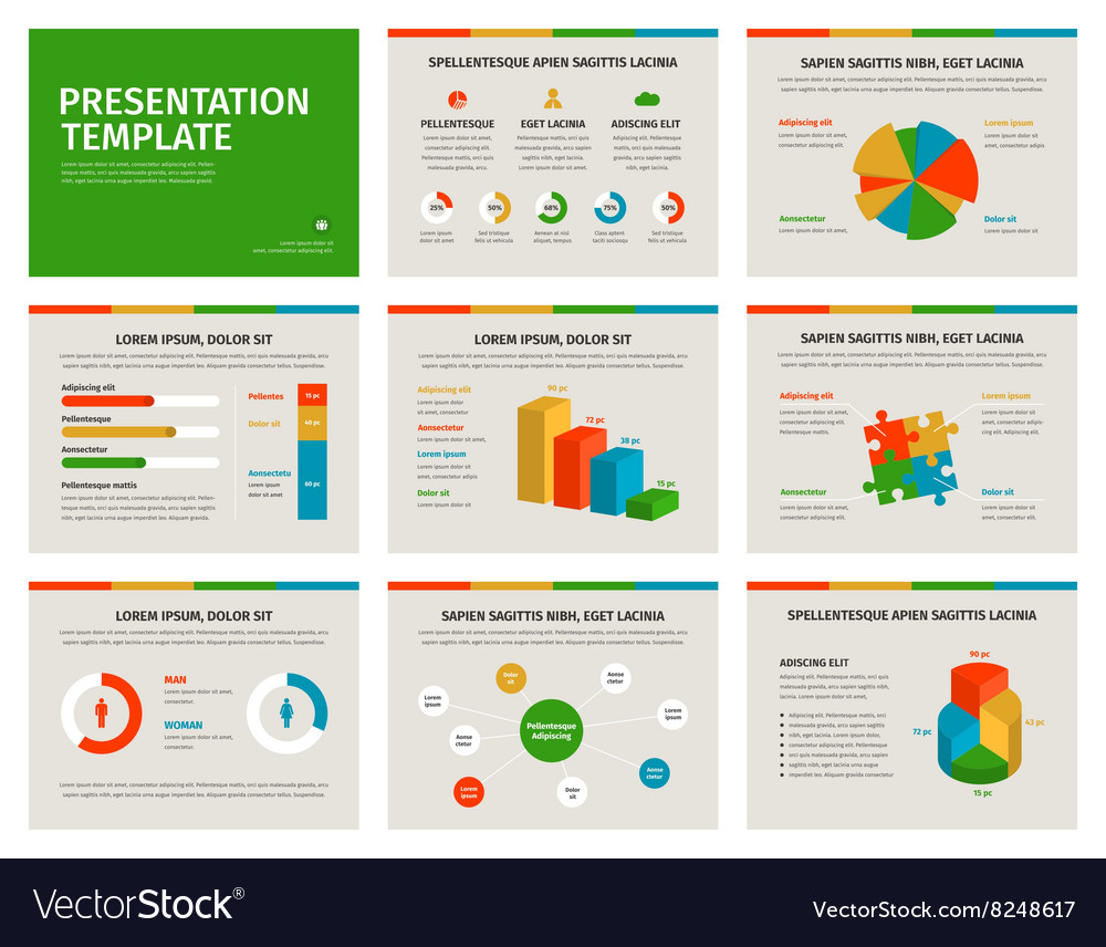 Presentation template Infographic elements on vector image