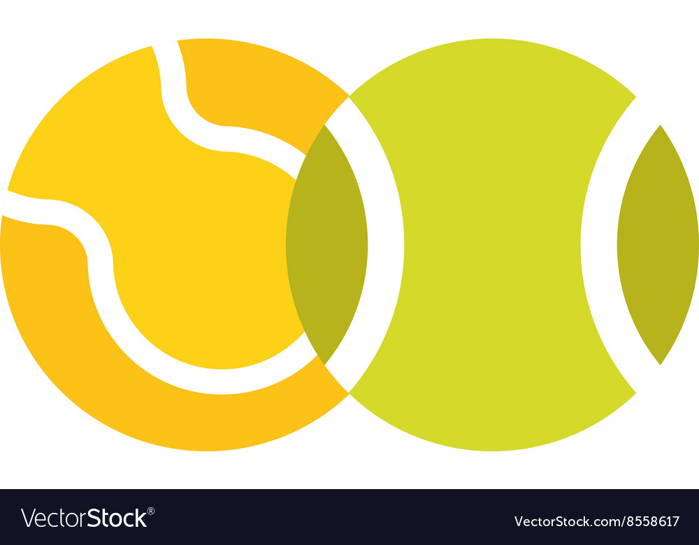 Tennis ball isolated sport equipment game circle