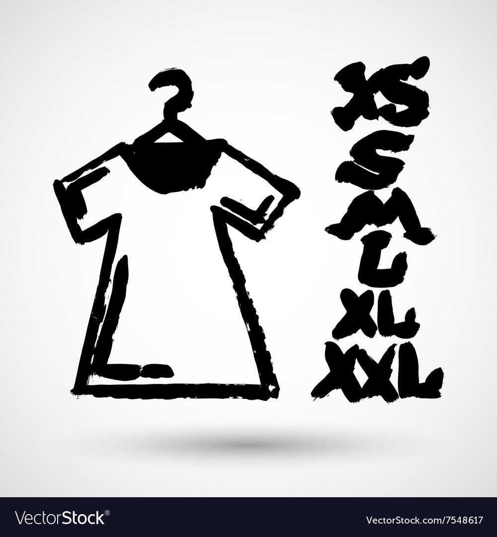 White Blank Tshirt Grunge Icon Symbol