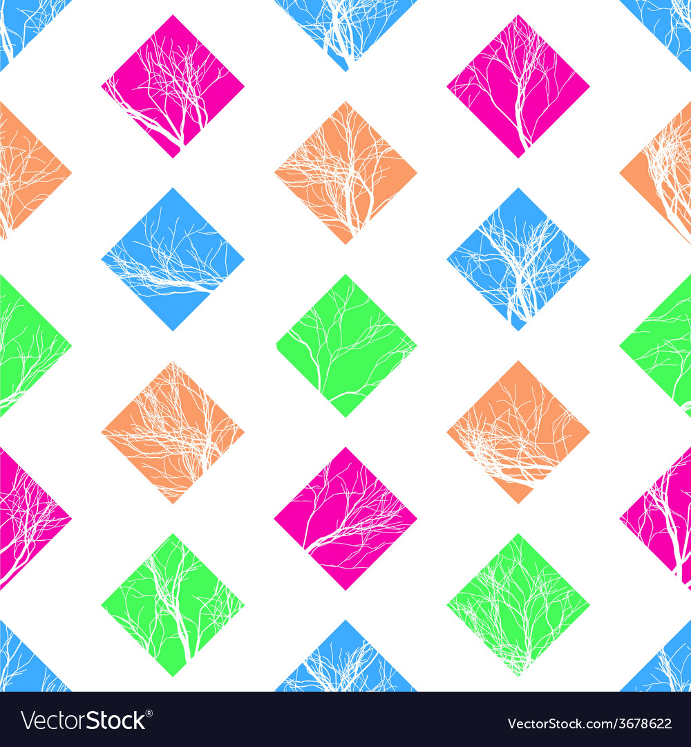 Abstract Colorful Squares Seamless Pattern