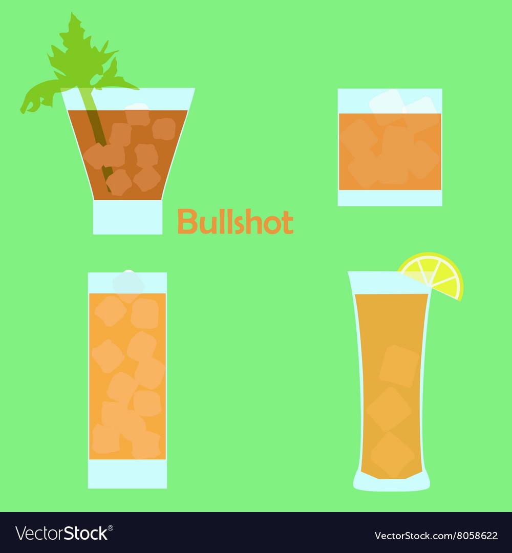 Bullshot cocktail vector image