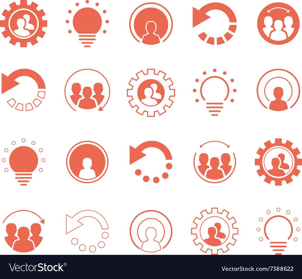Business icons and social media graphic elements
