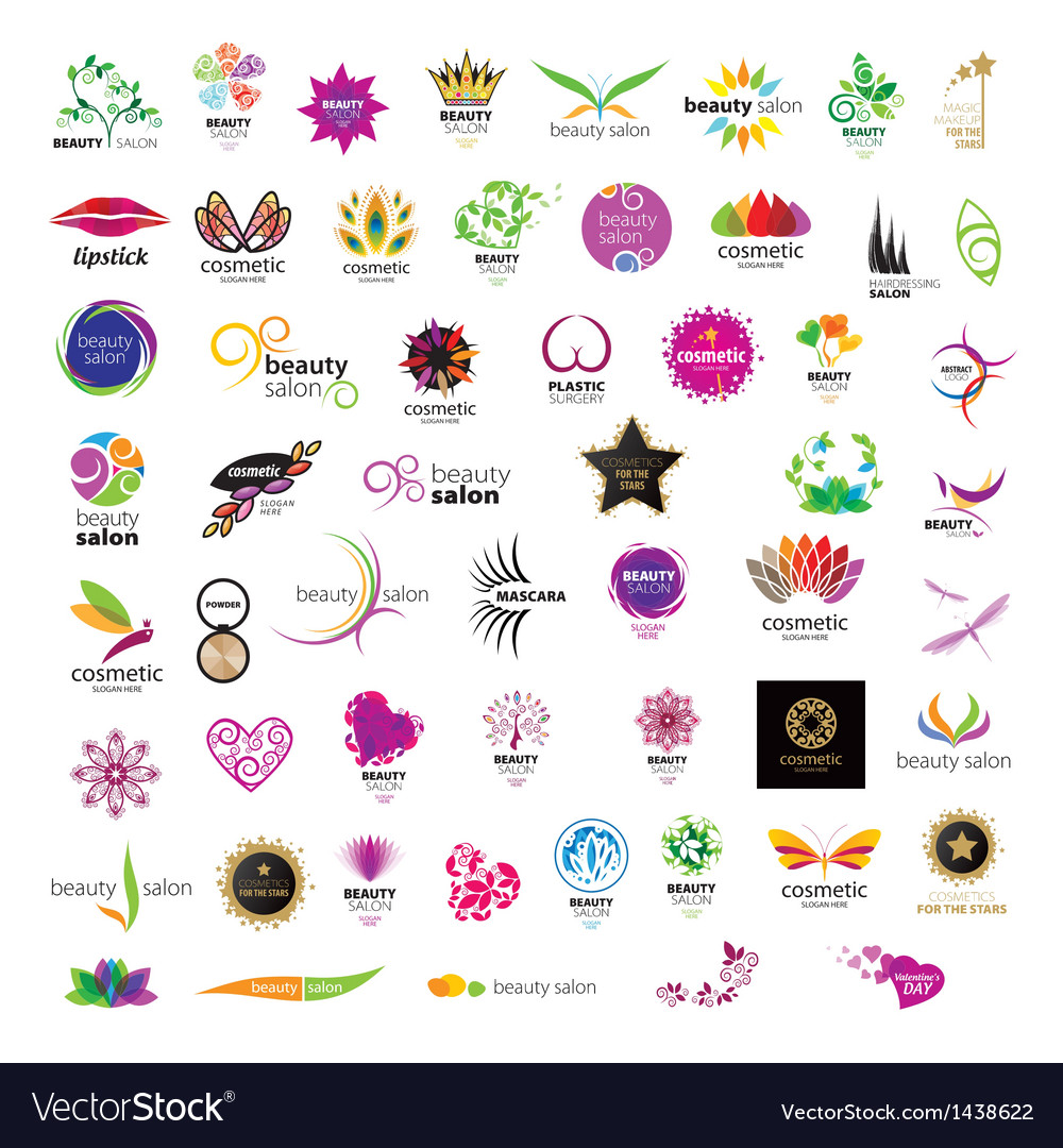 Collection of logos for cosmetics vector image
