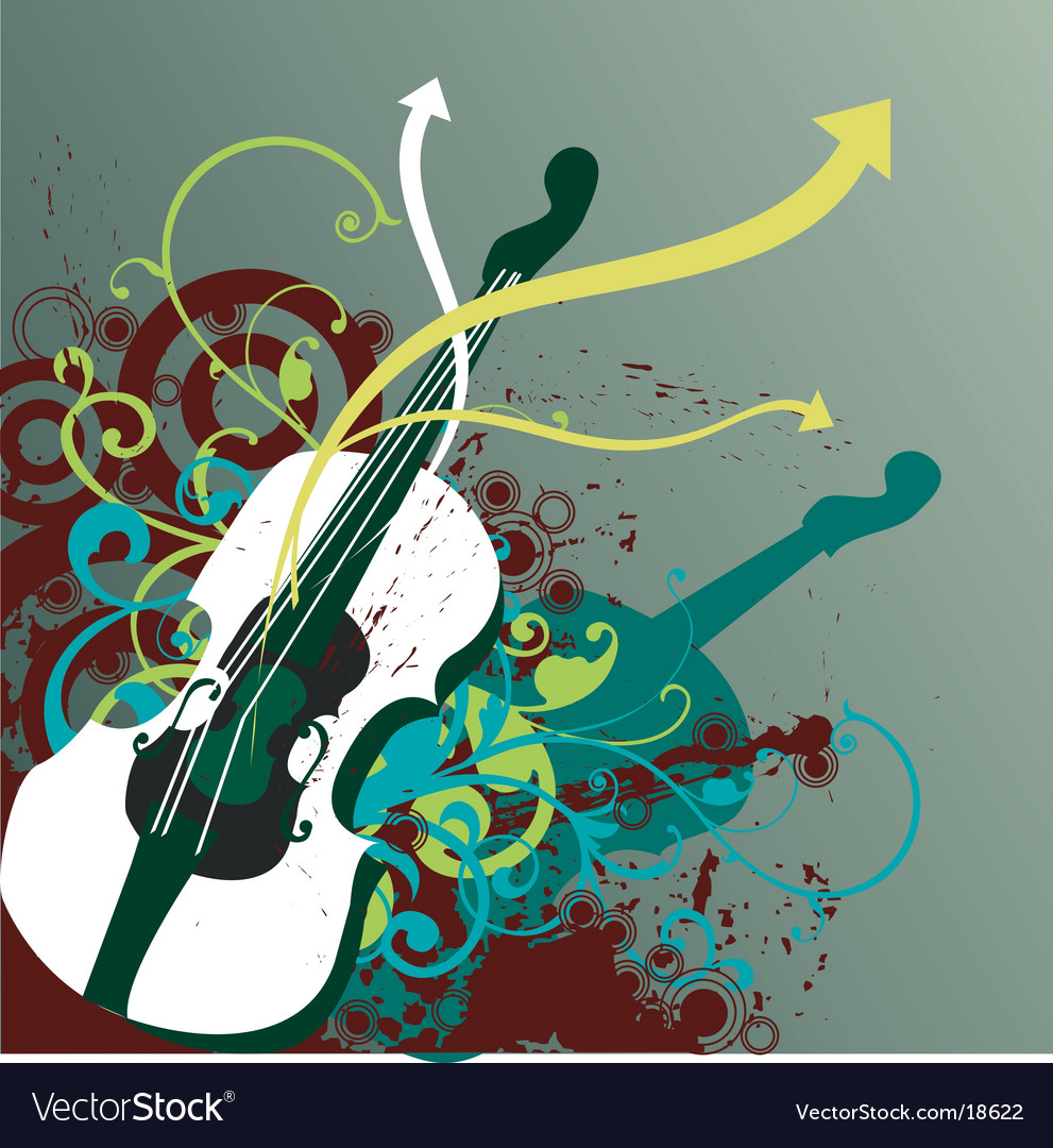 Funk musical instrument vector image