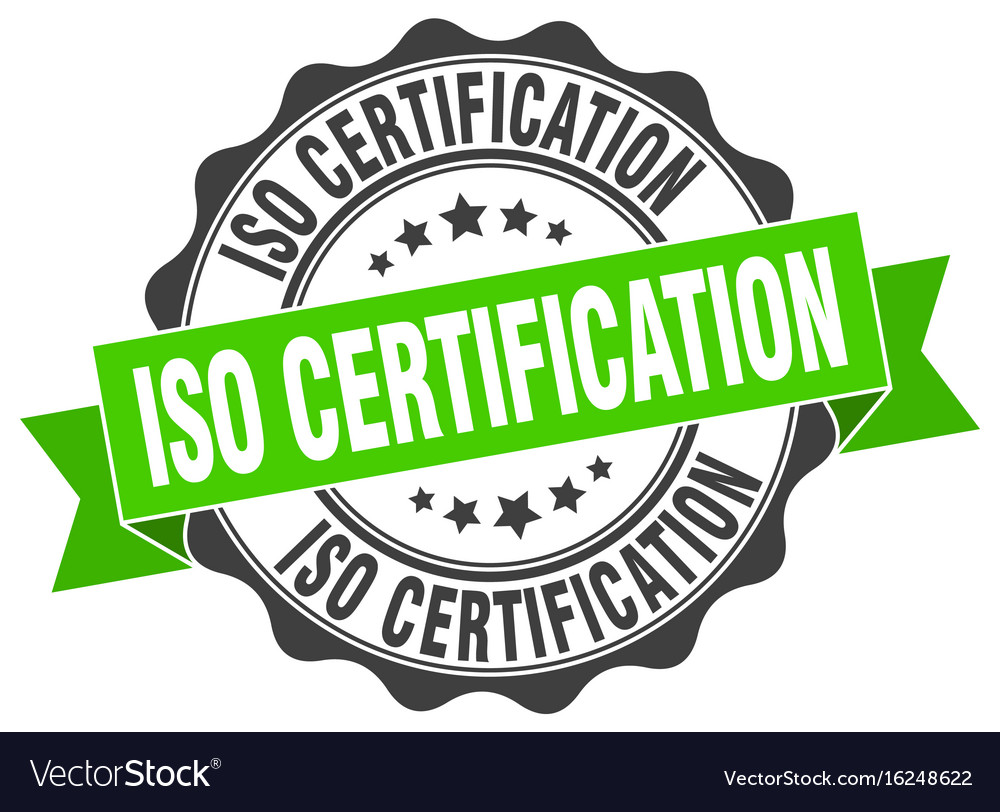 Iso Certification Stamp Sign Seal Vector Image