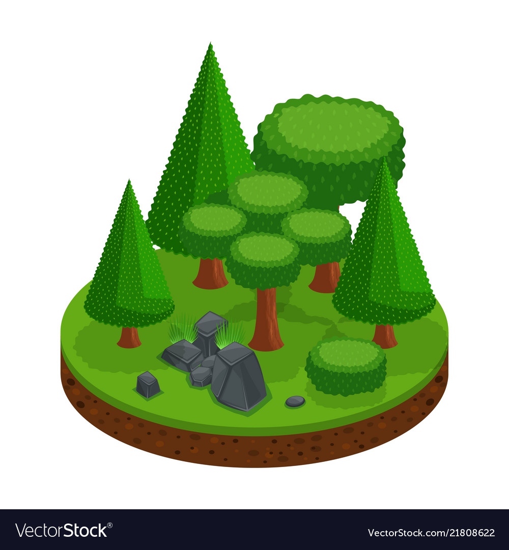 Isometry of a forest range of trees and conifers