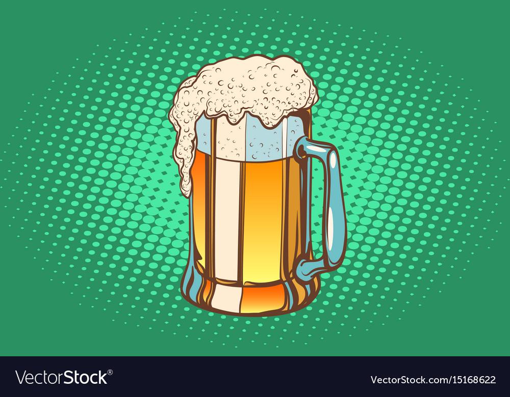 Mug of foamy beer vector image
