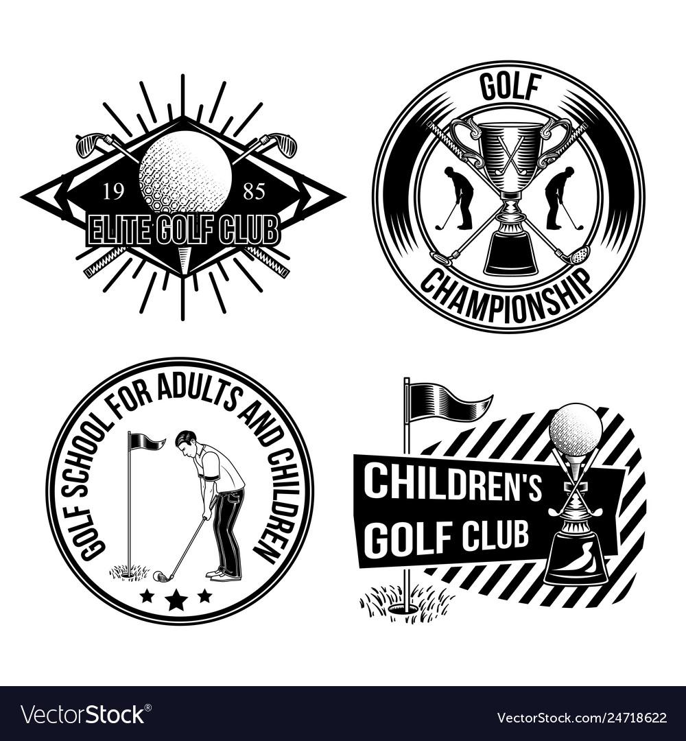 Set of golf emblems labels badges logos