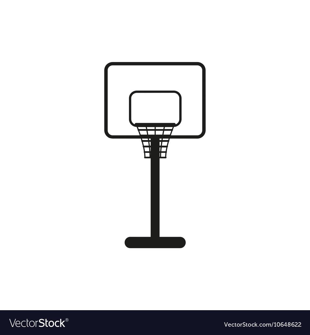 Simple black basketball backboard icon symbol