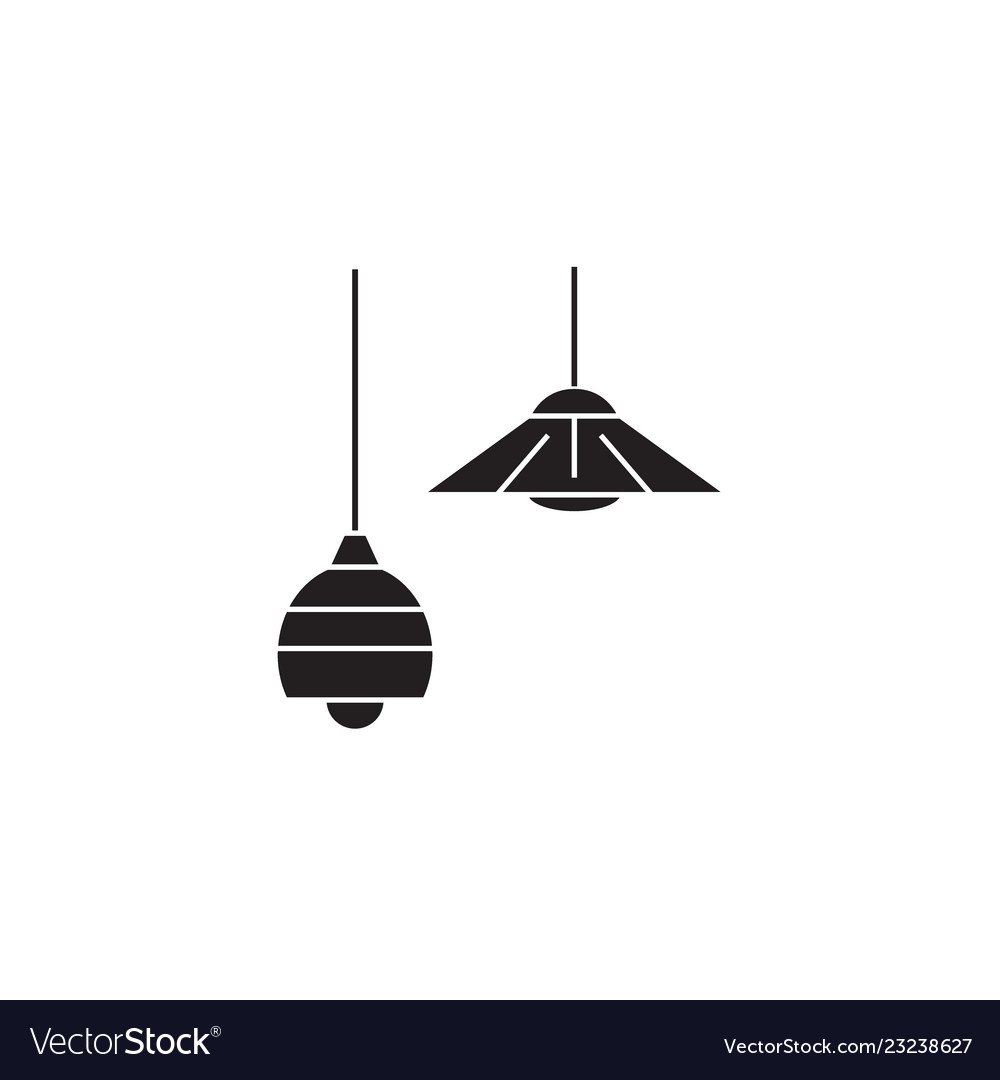 Ceiling lamps black concept icon ceiling