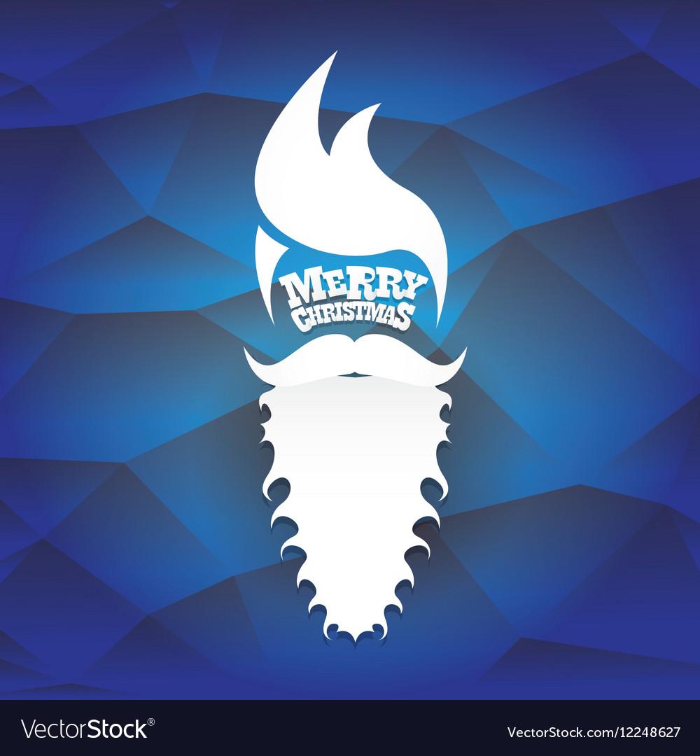 Christmas Hipster Santa Claus Greeting Card Vector Image