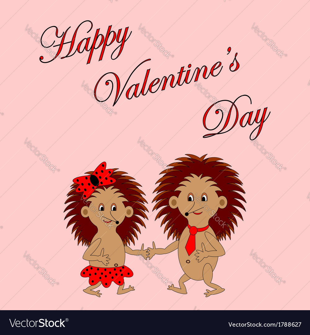 Funny Boy And Girl With Words Happy Valentines Day