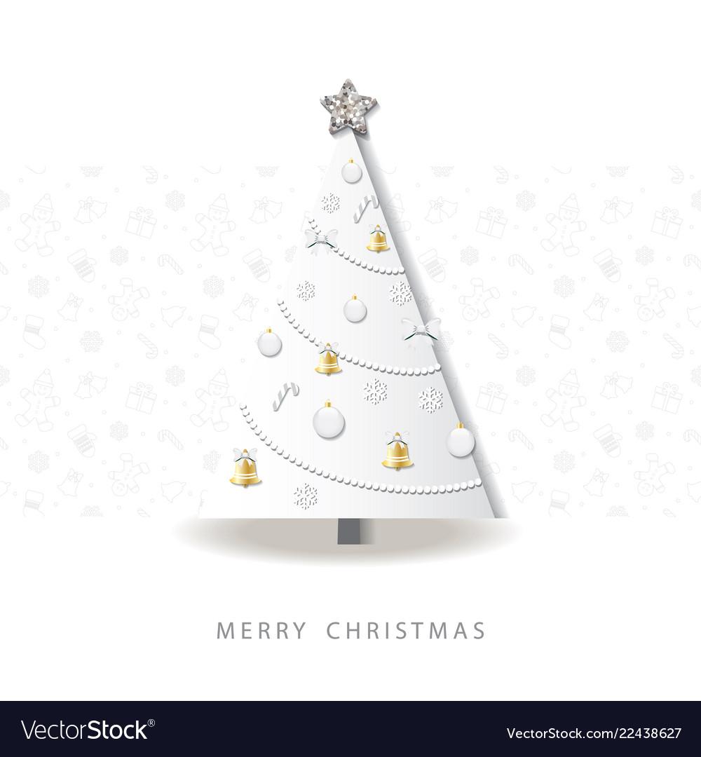 Happy new year greeting card christmas tree