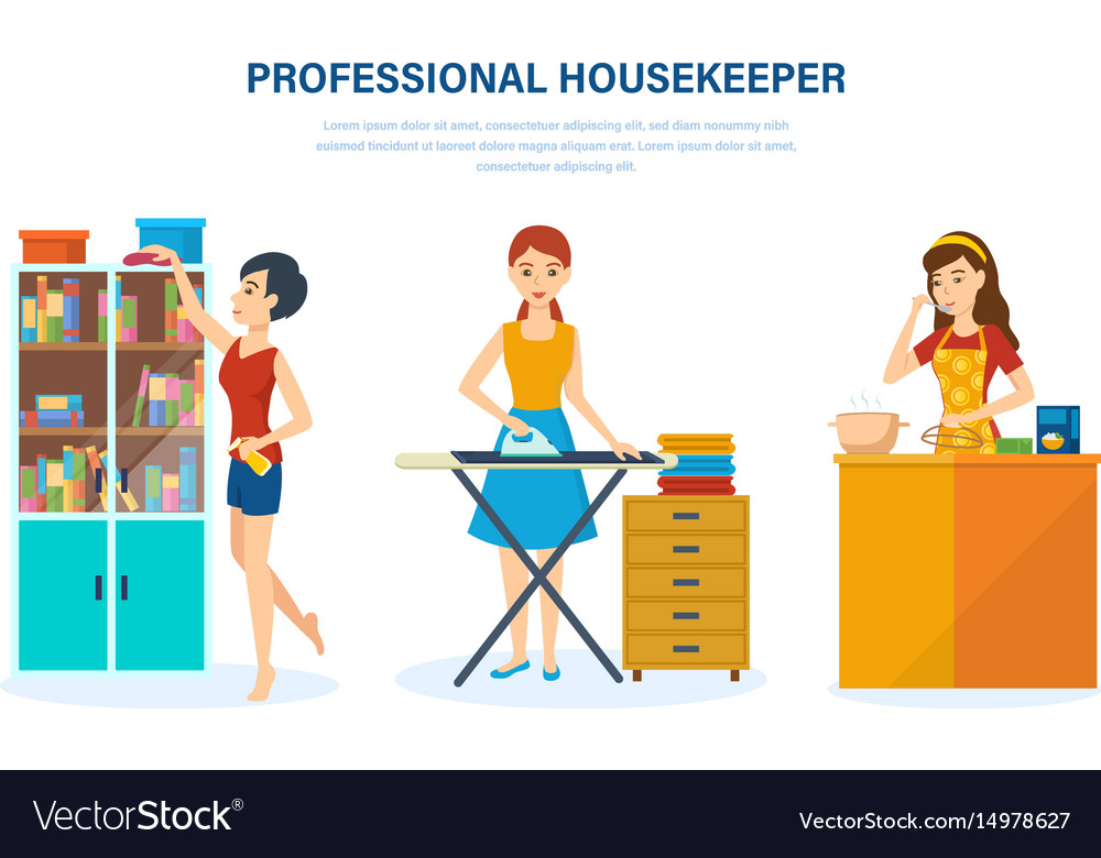 Housewife kitchen bedroom engaged home affairs