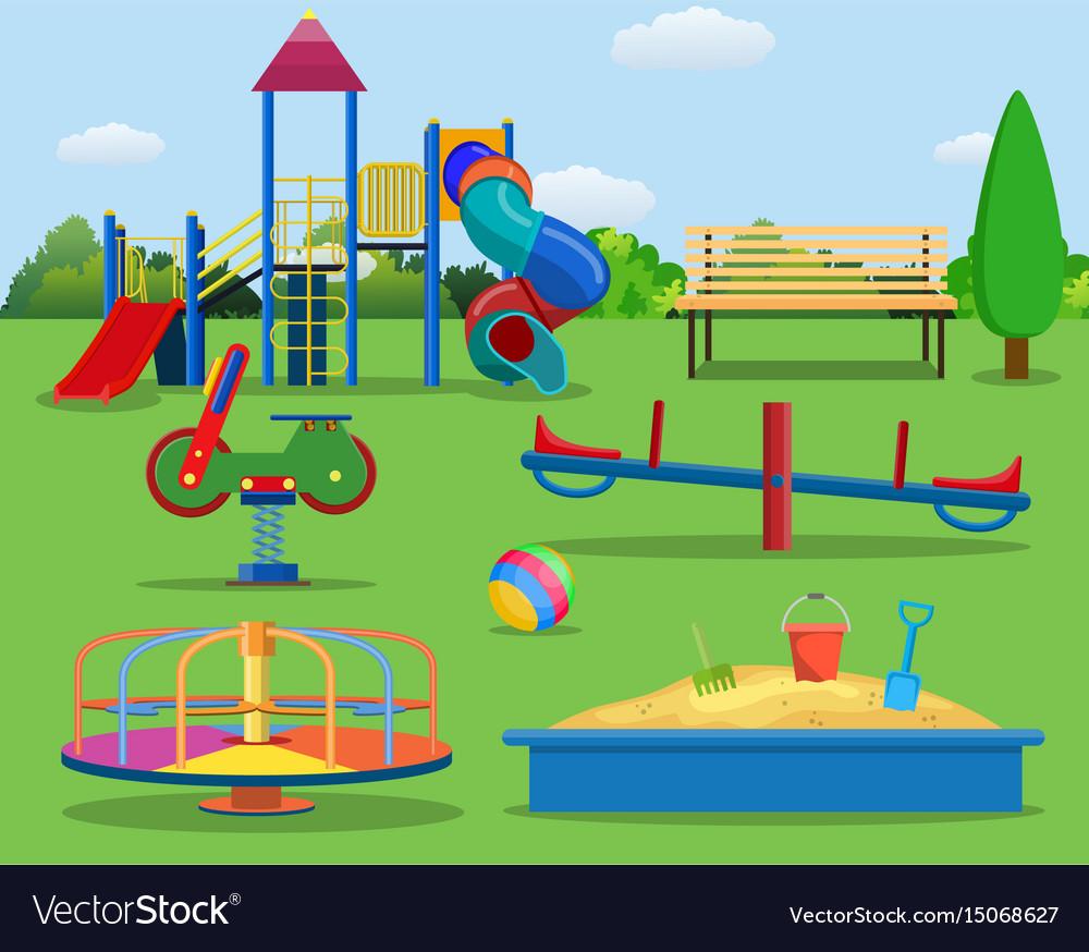 Картинка детская площадка мультяшная