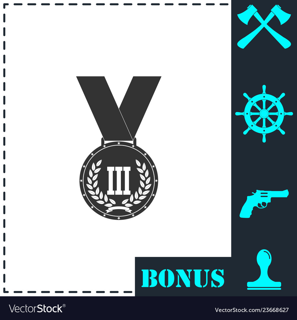 Medal icon flat