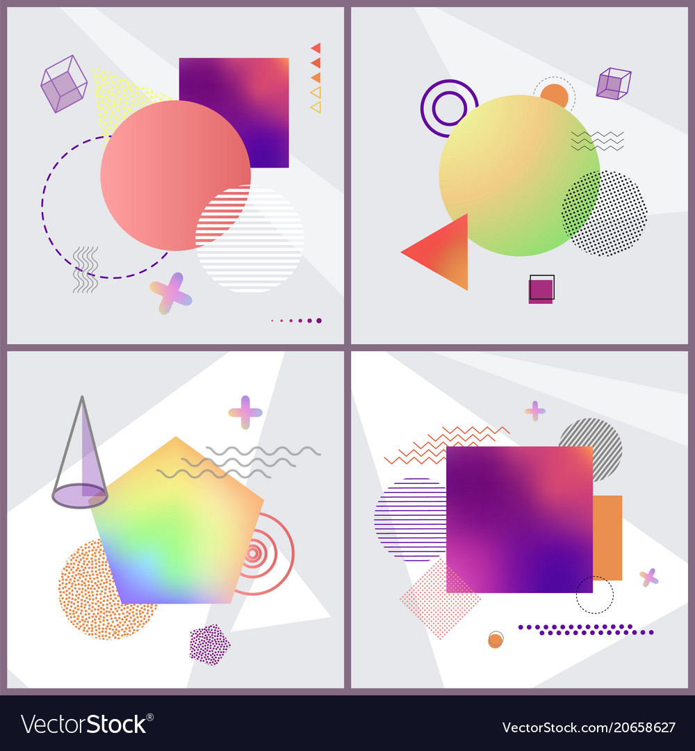 Posters with abstraction set