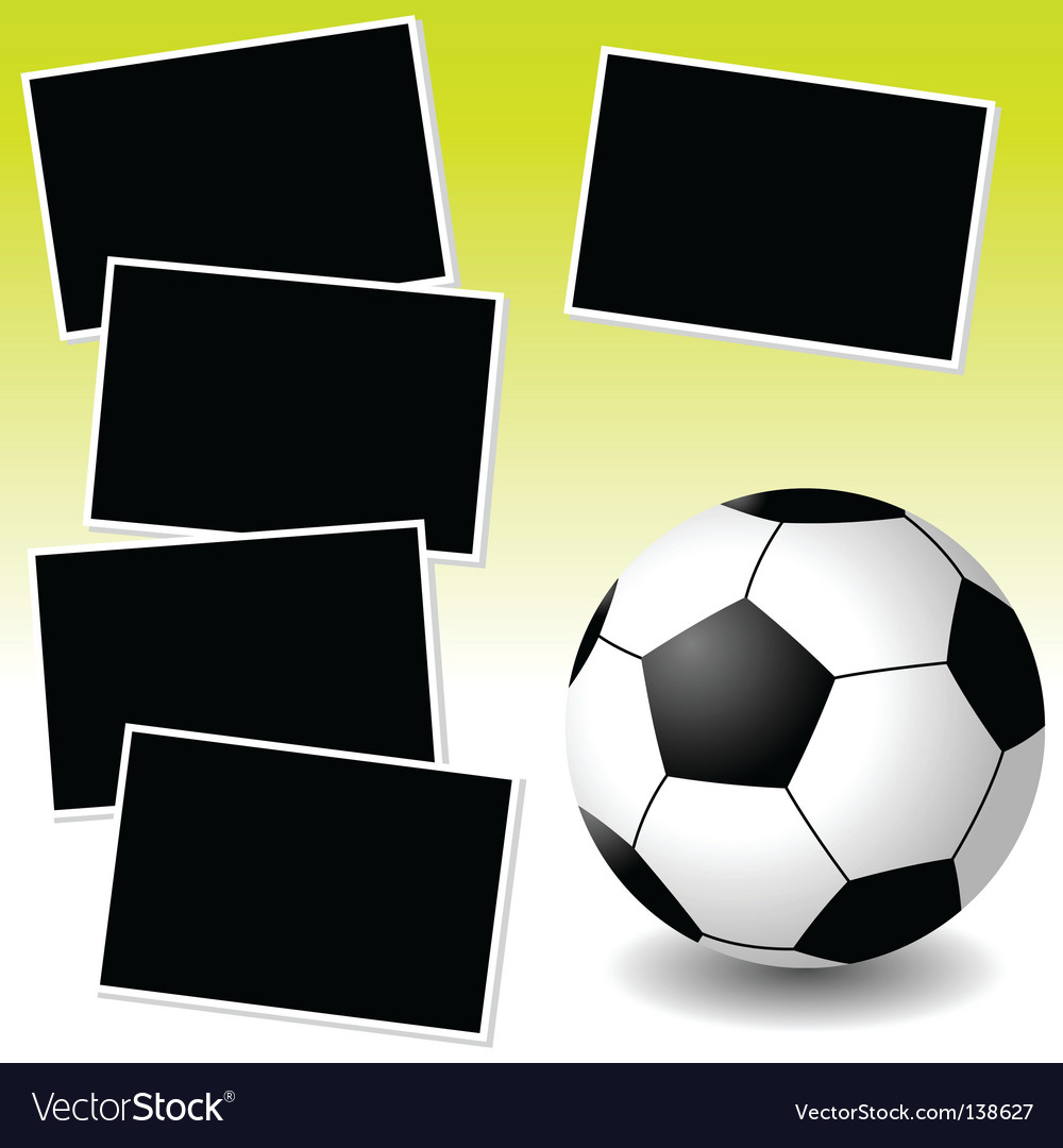Soccer photo adventure vector image
