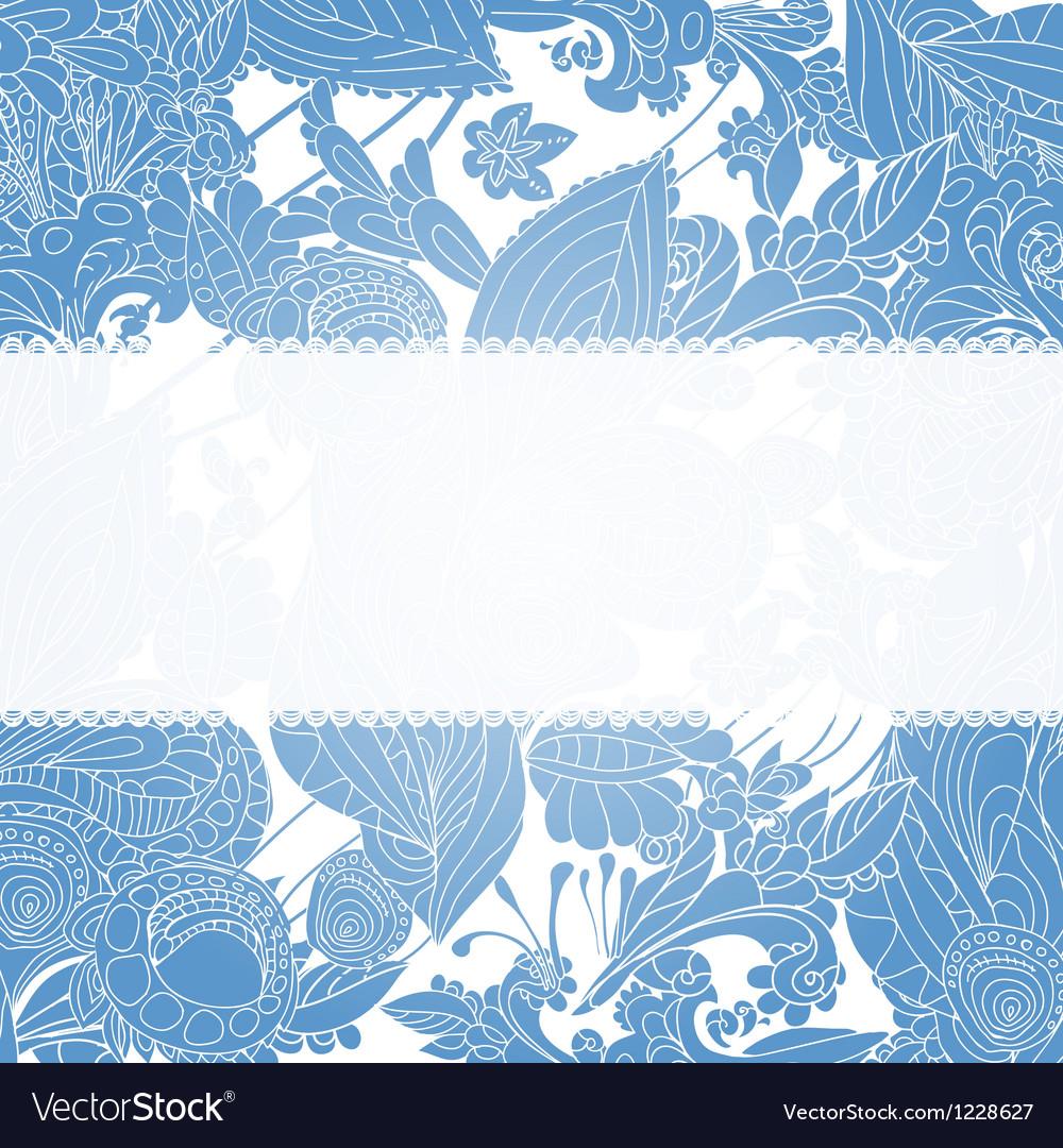 Vintage blue floral ornament background