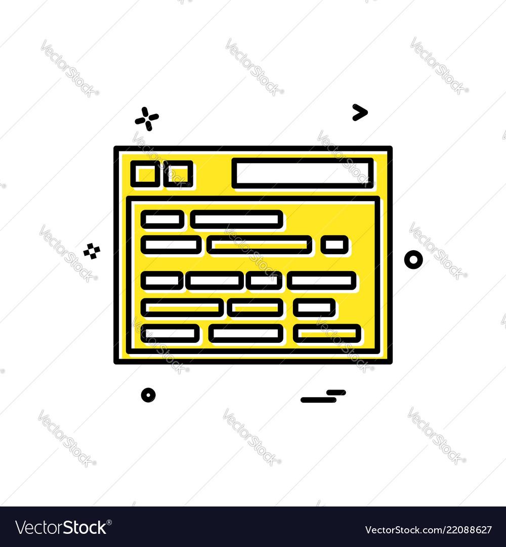 Web site icon design