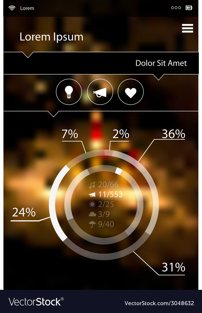 Abstract infographics template on blurred bright