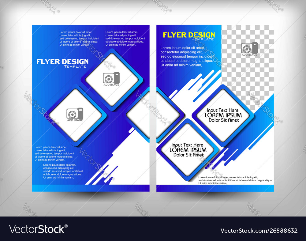 Brochure design blue milk