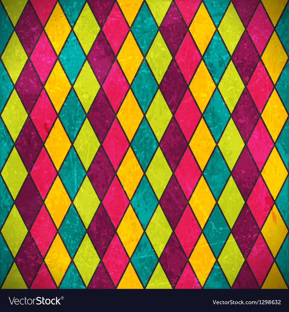 Colorful rhombus grunge background