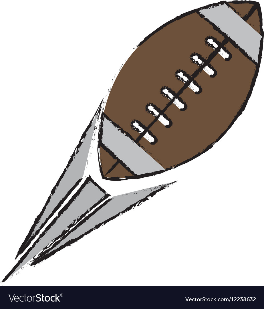 Drawing ball american football sport vector image