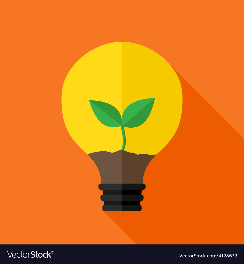 Growing plant inside idea lamp