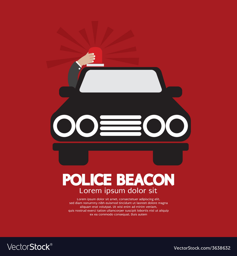 Police Beacon At Cars Roof