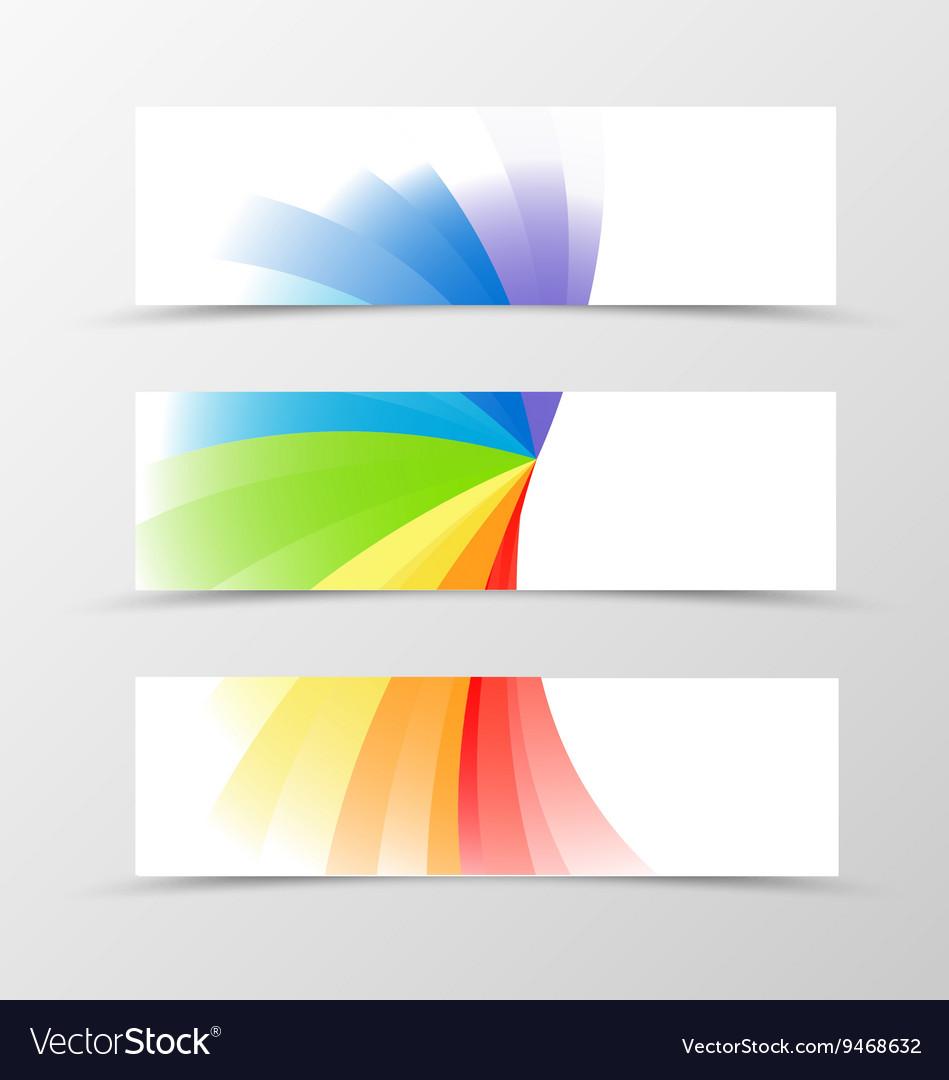 Set banner rainbow design