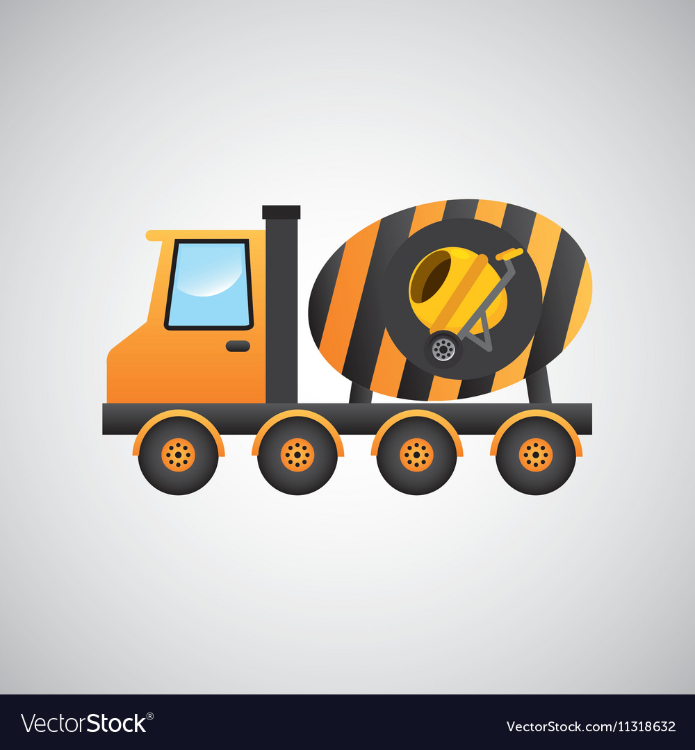 Truck mixer concrete icon graphic