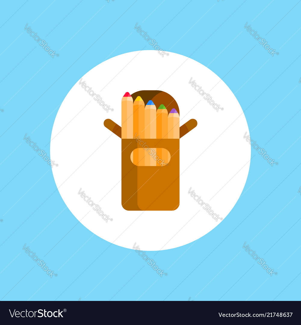 Colored pencils icon sign symbol