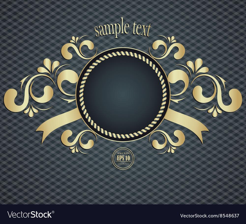 Elegant template frame design for luxury greeting