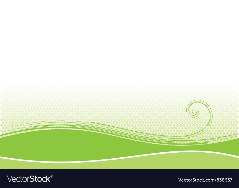 Green background with swirl shape