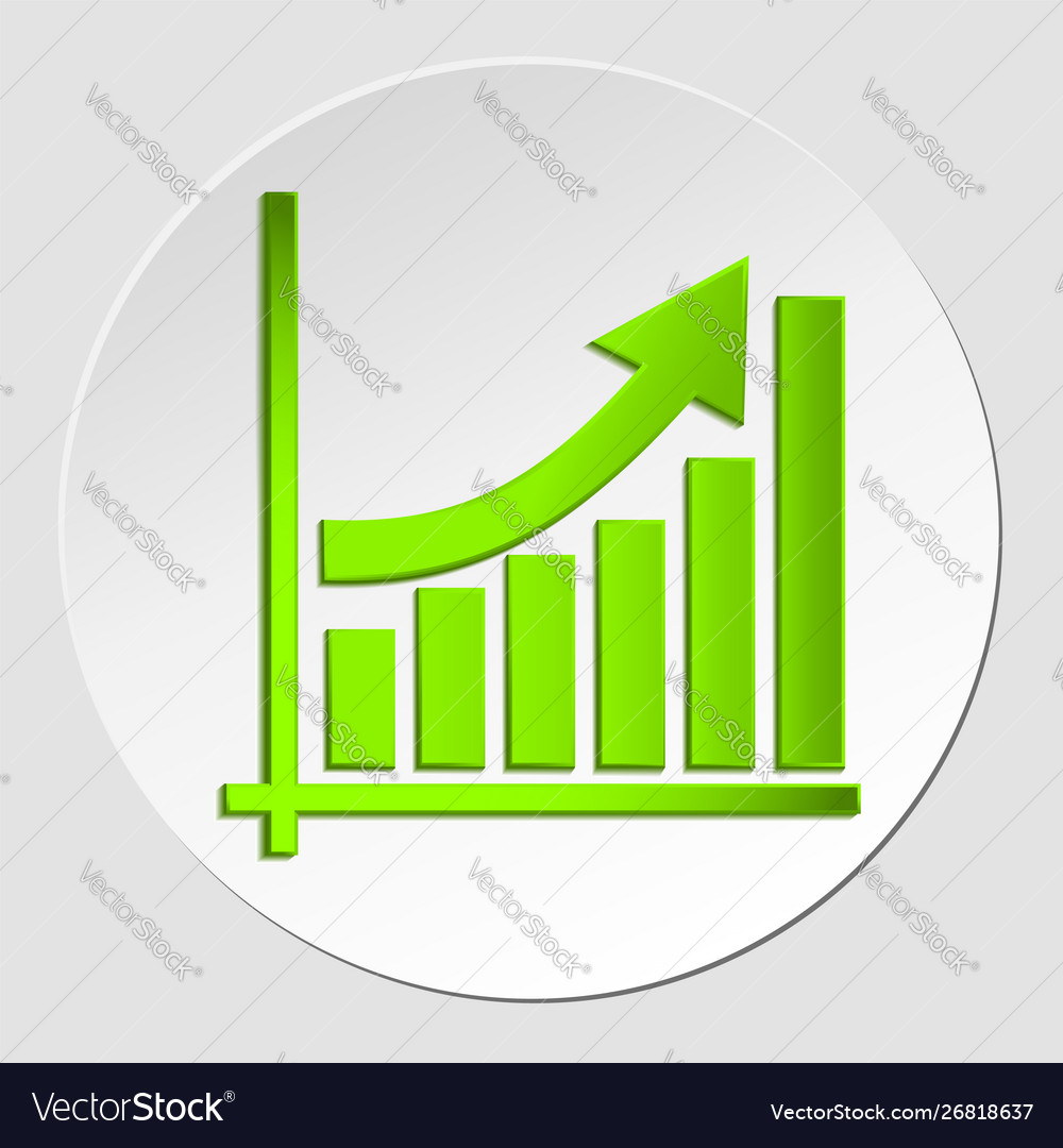 Growing business arrow on diagram growth