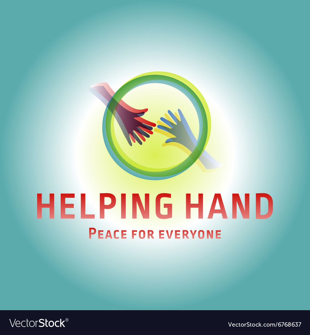 Helping Hand adult and children logo icon charity